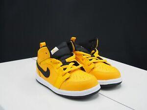 """Nike Air Jordan 1 Mid """"University Gold"""" 640735-700 Toddler size 4C"""