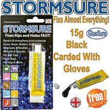 4 X Stormsure Black Flexible Adhesive Contact Leather Rubber Neoprene 15g S1bk