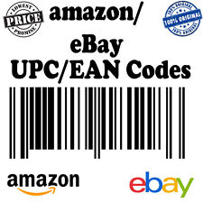 400 EAN UPC Codes Numbers Barcodes For Amazon Ebay Lifetime Guarantee