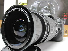 Wide Angle Macro Closeup Fisheye lens for Nikon 7100 & 18-200 AF-S DX 18-140MM