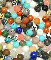 Edelsteine Perlen Natur Rund Schmucksteine Bunte Konvolut 6 / 8 mm Wählen Größe