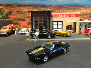 1:64 Hot Wheels LE 1970 70 Pontiac Firebird Trans Am Black Blue with Gold Stripe