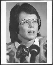 ~ Tennis Billie Jean King Oriignal 1970s Stamped Promo Press Photo