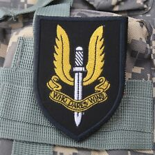 SAS military embroidered patch special air service forces airsoft paintball