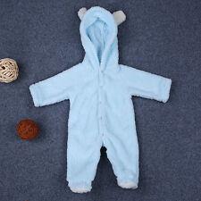 Infant Baby Girl Boy Hooded Romper Jumpsuit Winter Warm Bodysuit Outwear Clothes