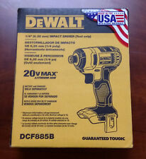 DEWALT DCF885B 20V MAX Lithium-Ion 1/4-Inch Impact Driver (Tool Only) Brand New