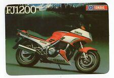 1988 Portugese Pocket Calendar Yamaha FJ1200 Motorcycle Motorbike bike