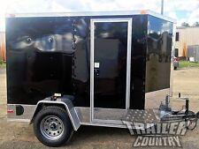 New ListingNew 5x8 5 x 8 V-Nose Enclosed Cargo Motorcycle Trailer Ramp & Side Door + Color