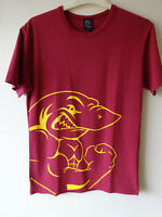 GYMSHARK OFFICIAL RED T SHIRT WITH SHARK PRINT PICTURE SIZE SMALL