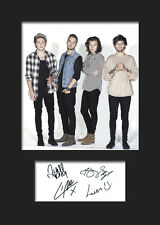 ONE DIRECTION #6 Signed Print A5 Mounted Photo Print - FREE DELIVERY