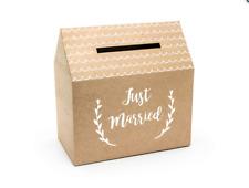 Hochzeit Karte Postbox Just Married Rustic Kraft Brown