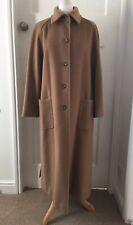 Vintage Max Mara Long Camel Coat Virgin Wool UK 12 Oversized Ankle Length
