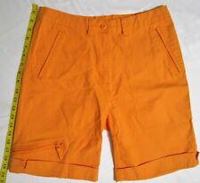 Woolrich Hiking Stretch Cotton Hi Waist (29X10) Women Size 6 Orange Cargo Shorts