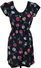 Tucker Target Black Floral S Short Boho Dress Women's Button Short Sleeve Pink
