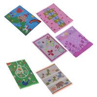 6pieces 1/12 Cartoon Carpet Cloth Mat for Dollhouse Bedroom Living Room Accs