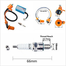 Motorcycle Bikes High Performance Racing Ignition Coil+Spark Plug+AC CDI For GY6