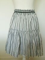 Kate Spade Broome Street Size XS Gray and White Striped Skirt