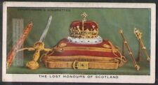 The Lost Honours Of Scotland Royal Jewels Crown 80 Y/O Trade Ad Card