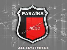 3D Emblem Sticker Resin Domed Flag Paraíba - Adhesive Decal Vinyl