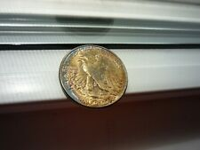 1941HALF(COLOR TONED!!! WOW!!!)WALKING LIBERTY SILVER (HIGH MINT STATE+++BEAUTY!