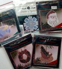 5 Mill Hill Holiday Christmas Holiday Counted Bead Ornament Kit Lot Angel Santa