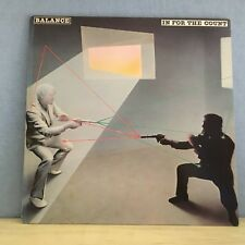 BALANCE In For The Count - 1982 Dutch manufactured  Vinyl LP EXCELLENT CONDITION