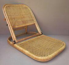 Siège chaise de plage pliant ROTIN CANNAGE vintage jardin folding beach chair