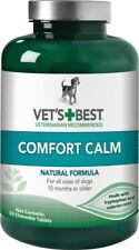 VET'S BEST COMFORT CALM for DOGS - 30 Chewable Tablets Valerian Root Tryptophan