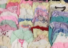 A155 JOBLOT X60 Hand Knit Baby Jumpers Cardigans Mixed Sizes Bundle Good Cond