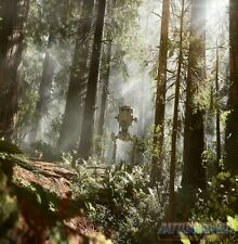 1/6th Scale STAR WARS ENDOR FOREST with AT-ST Ikea DETOLF 15x15 Diorama Backdrop