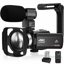 Video Camera 4K Camcorder 48MP with Microphone 16× Digital Zoom 3'' Touch Screen