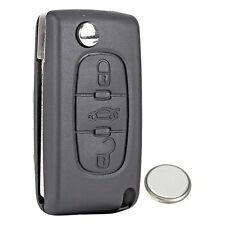 Peugeot 207 307 407 3 Button Remote Key Fob Case Service Kit + Battery + Logo