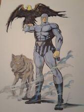 oiginal comic art pin up the phantom by frew and moonstone artist Lou Manna