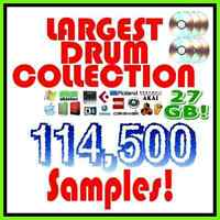 Largest Drum Sample Kit 27GB 114,500 Samples Kit for Hip hop, Rap, EDM, Trap etc