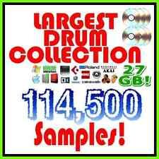 Largest Drum Sample Kit 27GB 114,500 Samples Kit for Hip hop, Rap, EDM, Trap etc
