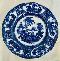 """Antique Lovely Flow Blue """"Kyber"""" by Adams China, England Plate 10.25"""""""