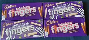 Cadbury Chocolate Fingers Biscuits Milk & White Choc 4 Boxes NEW