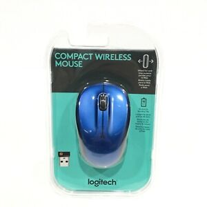 Logitech Compact Wireless Mouse Blue
