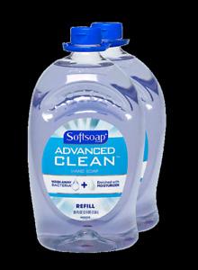 Softsoap Advanced Clean Liquid Hand Soap Refill, 80 oz, 2 Count Total 160 FL OZ