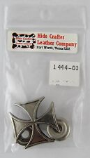 Maltese Cross Line 24 Snap - Antique Nickel - Hide Crafter Leather #1444-01