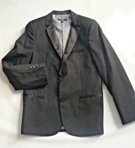 M&S Smart Tux Jacket / Black Blazer Boys AGE 8-9 /10 -11  /13 -14 New Tags