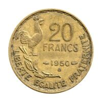 KM# 916.2 - 20 Francs - France 1950 B 'Georges Guiraud' (F)