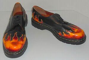 Tredair England Flame Sunburst Men Rockabilly Hipster Oxford Laceup Shoe Size 11