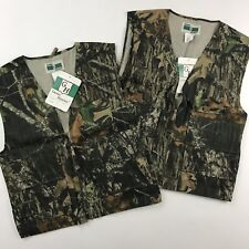 2 Game Hunter Camo Vests Size Youth L 14/16 Mossy Oak Break Up Hunting Paintball