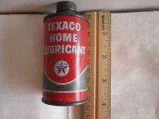 "1+1=2 SALE! TEXACO HOME LUBRICANT OIL CANS: 4""H x2""W + 3.5""H x1.75""D  AS PHOTOS"