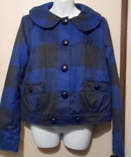 Fabulosity Junior Plaid Winter Jacket Blue Large (L) NWT