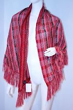 MISSONI Italy KNIT Fringe SHAWL Wool COVER Throw SCARF FREE SHIPPING