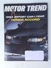 1994 Honda Accord Motor Trend Feb 1994 Viper ZR-1 BMW M3 Porsche 911 Carrera
