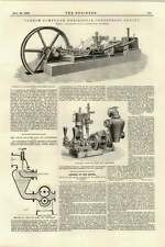 1895 Compound Horizontal Tandem Engine Hargraves Rawtenstall Drum Air Pump