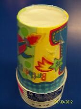Hugs & Stitches Boy Blue First 1st Birthday Party 9 oz. Paper Cups